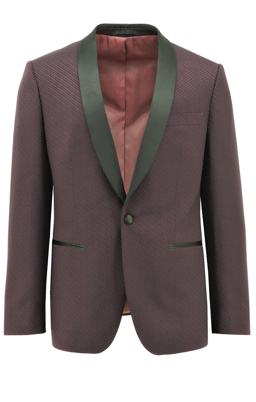 Christian Brookes Tux Red Diamond Cut Suit Jacket