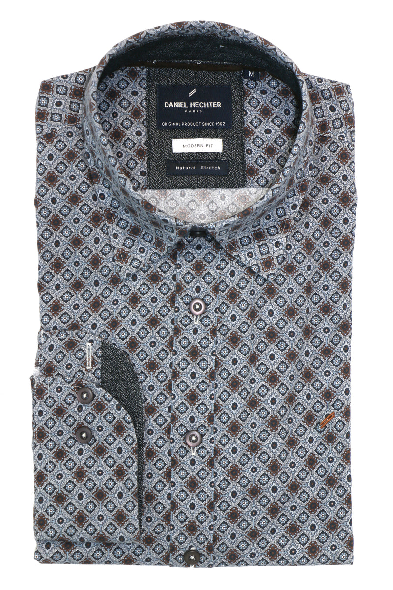 Daniel Hechter Shape Grey Tile Shirt