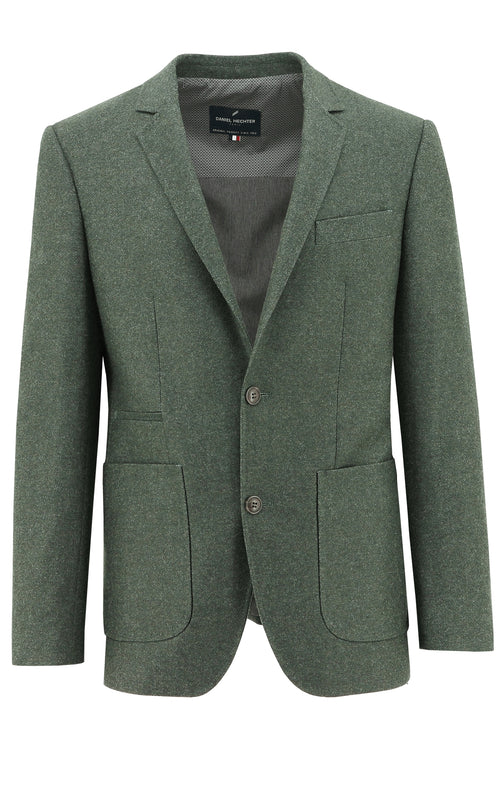 Amsterdam Green Textured Sports Jacket