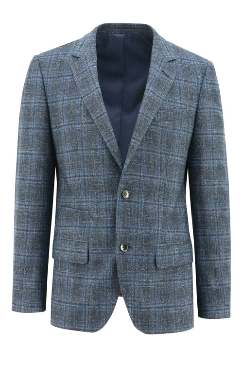 Lisbon Blue Check Sports Jacket