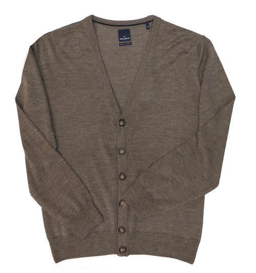 Daniel Hechter Tan Button Down Cardigan - LIMITED STOCK