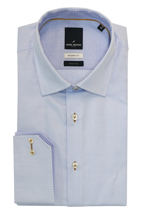 Daniel Hechter Shape Light Blue Easy Iron Shirt