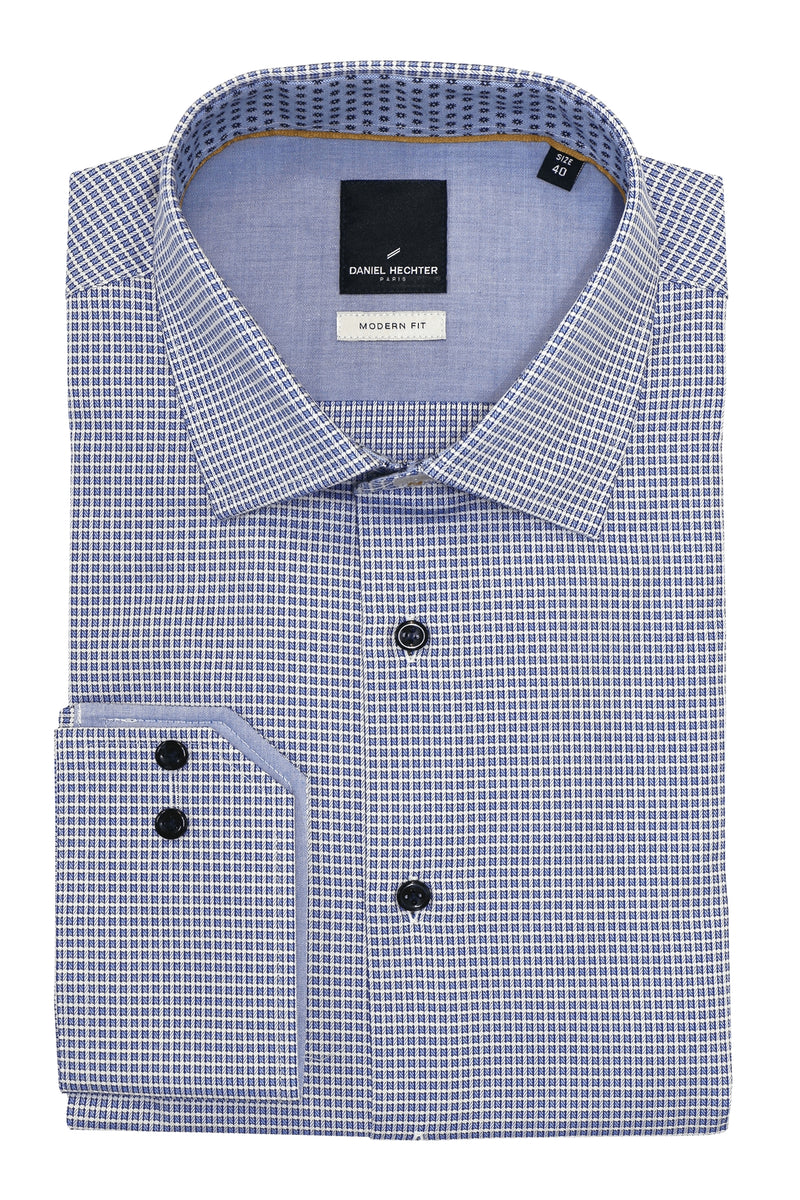 Shape Blue Layered Check Shirt