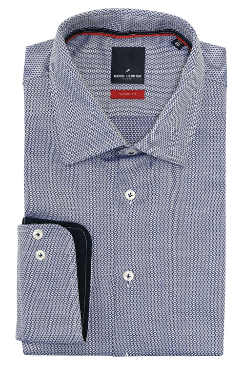 Daniel Hechter Shape Diamond Blue Shirt