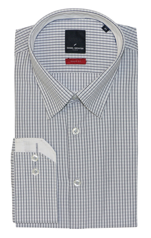 Daniel Hechter Shape Grey Pinstripe Business Shirt