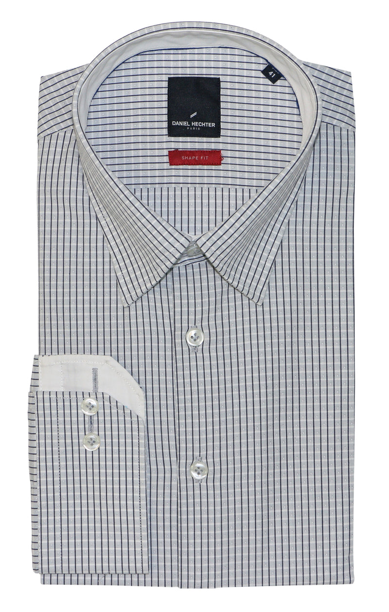Shape Grey Pinstripe Business Shirt