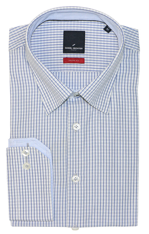 Daniel Hechter Shape Blue Pinstripe Business Shirt