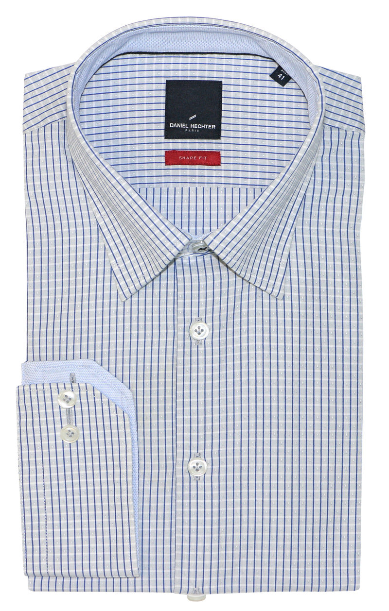 Shape Blue Pinstripe Business Shirt