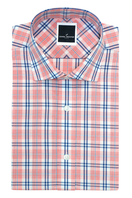 Daniel Hechter Jacque Business Salmon Check Shirt