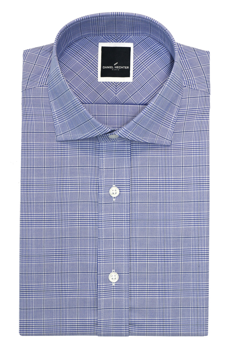 Daniel Hechter Jacque Business Blue Glen Check Cotton Shirt