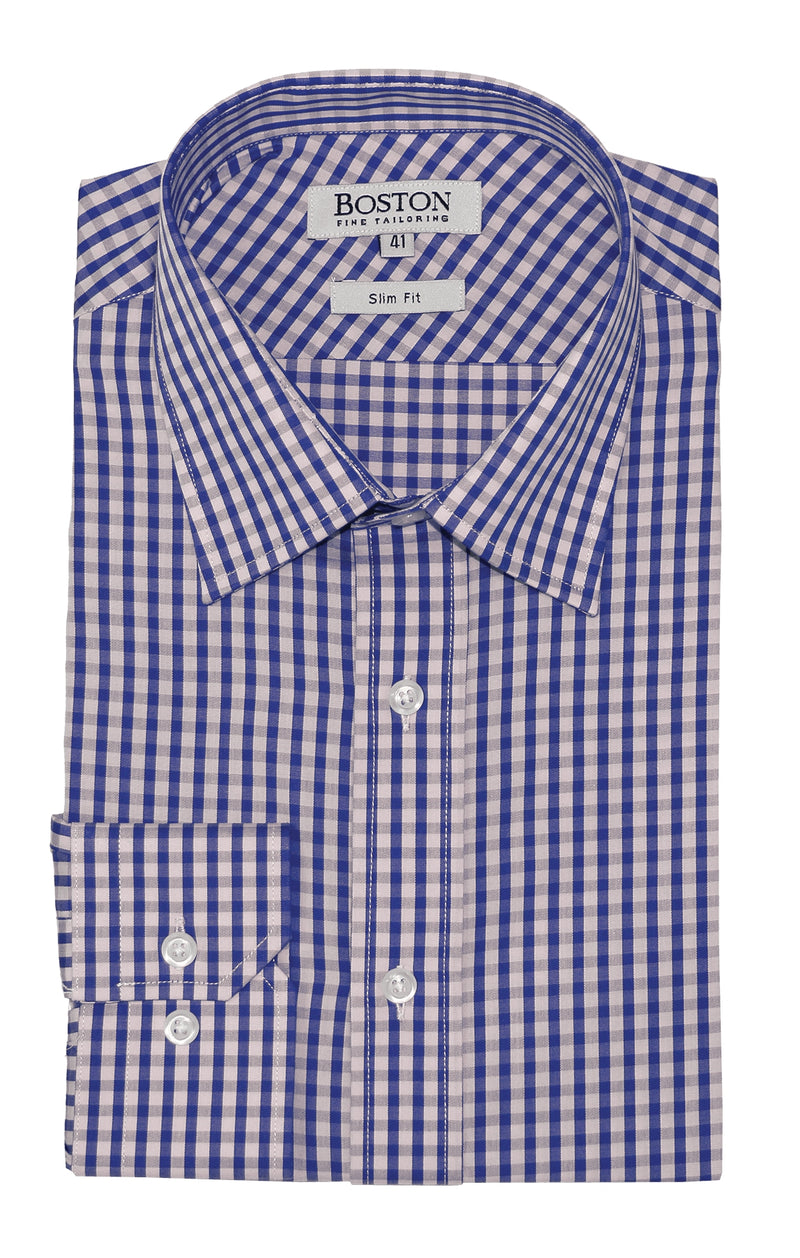 Boston Liberty Business Purple Gingham Shirt