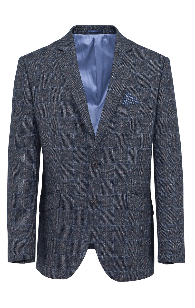 Bond Navy Check Sports Jacket