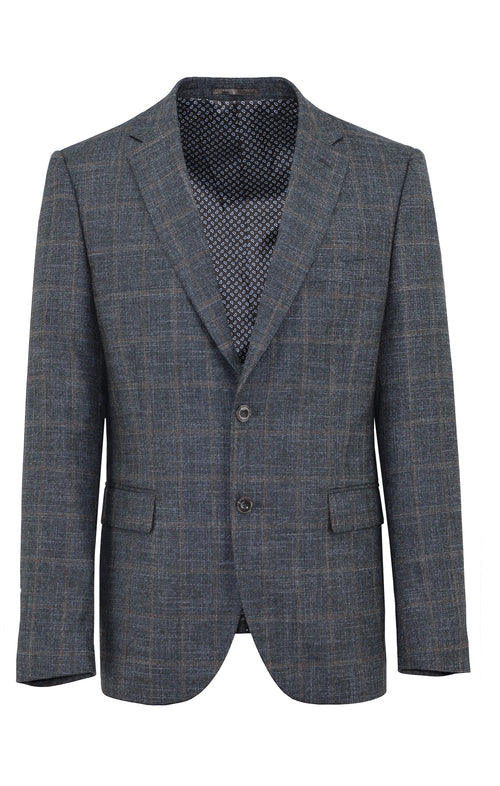 Christian Brookes Shape Charcoal Check Sports Jacket