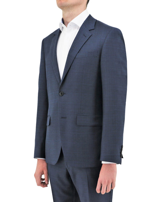 Boston Shape Blue Textured Wool Jacket