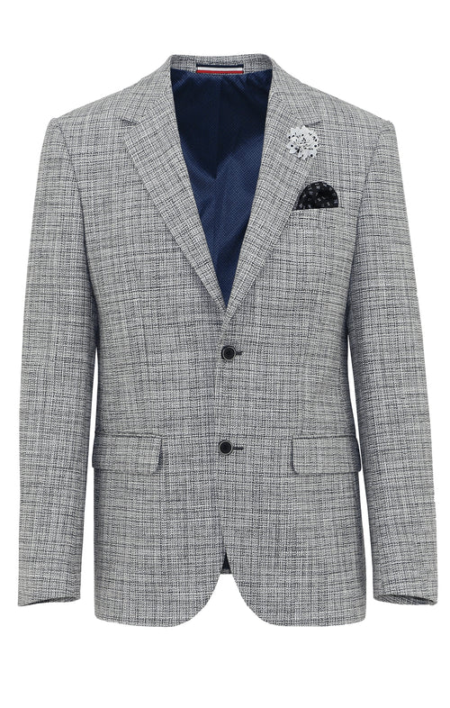 Daniel Hechter Ritchie Grey Textured Sports Jacket