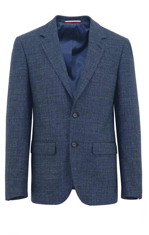 Daniel Hechter Ritchie Blue Textured Sports Jacket