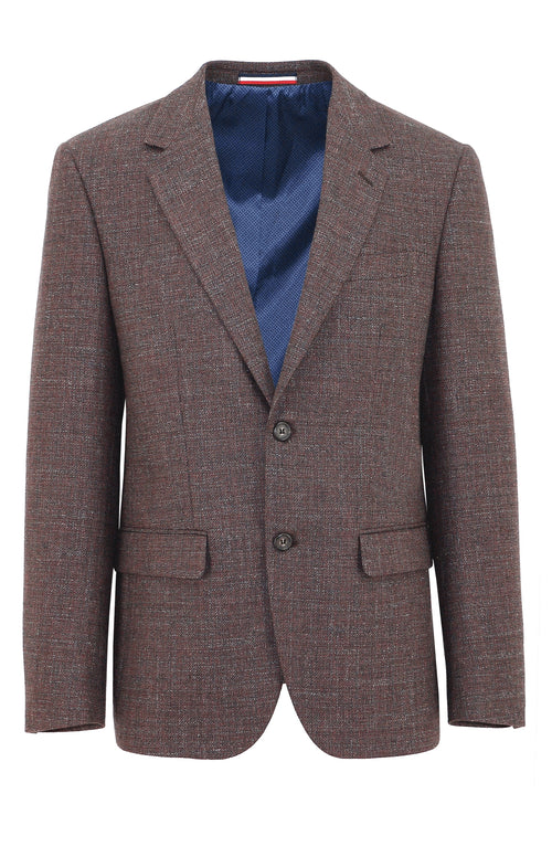 Daniel Hechter Ritchie Maroon Textured Sports Jacket