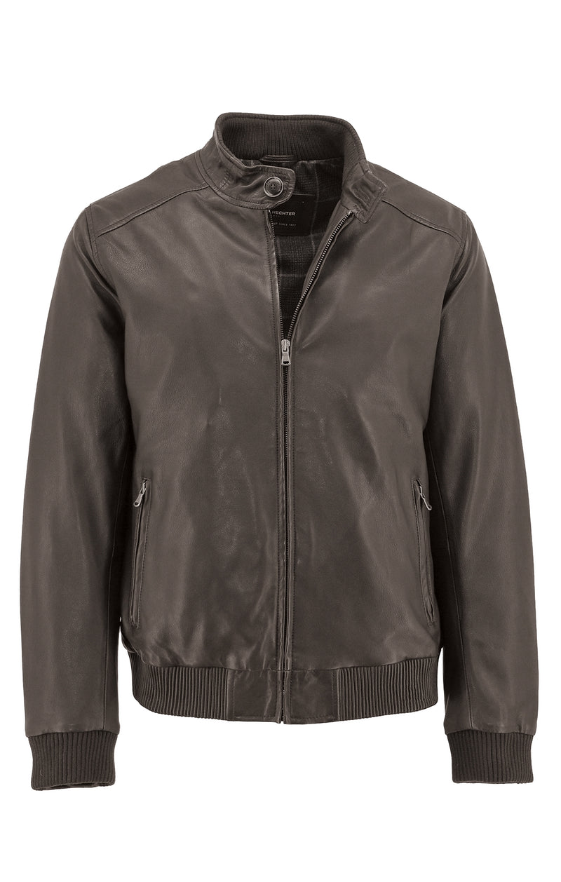 - ONLINE EXCLUSIVE - Daniel Hechter Connor Brown Leather Jacket