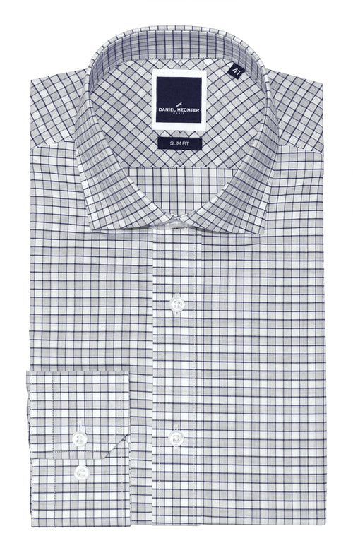 Daniel Hechter Jacque Business Grey Check Shirt
