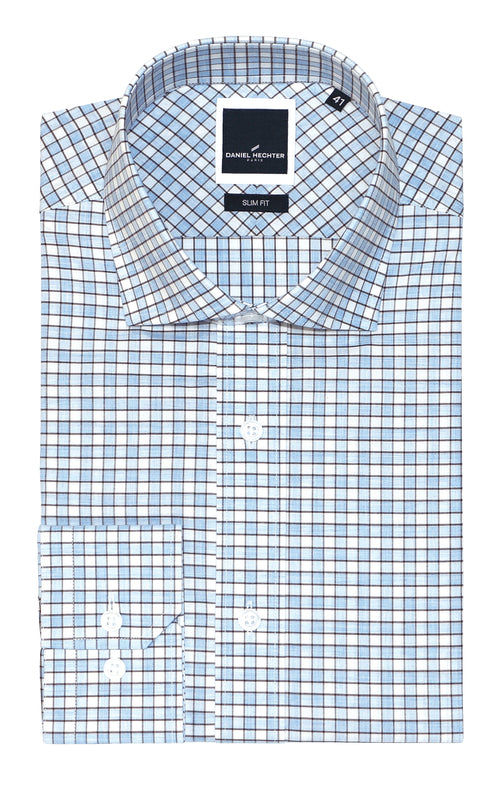 Jacque Business Blue Check Shirt