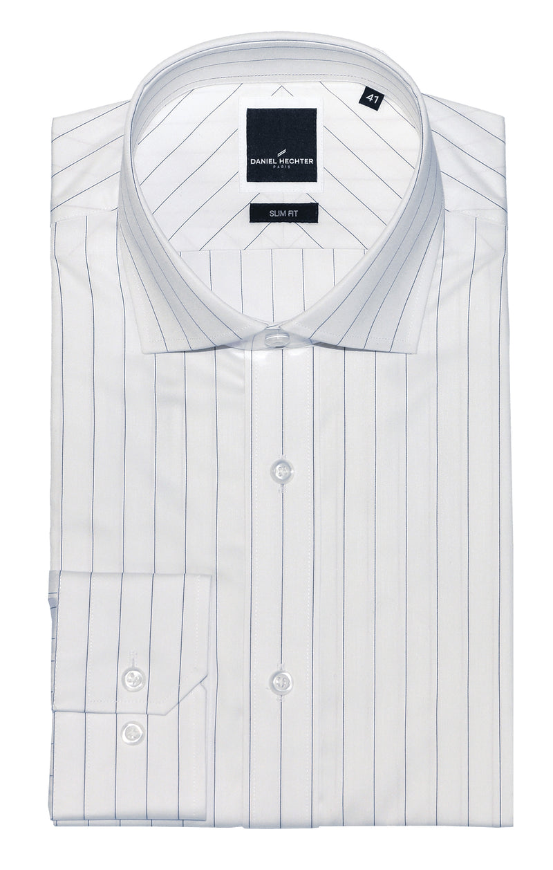 Jacque Business White Stripe Shirt