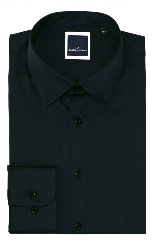 Franco Black Business Shirt