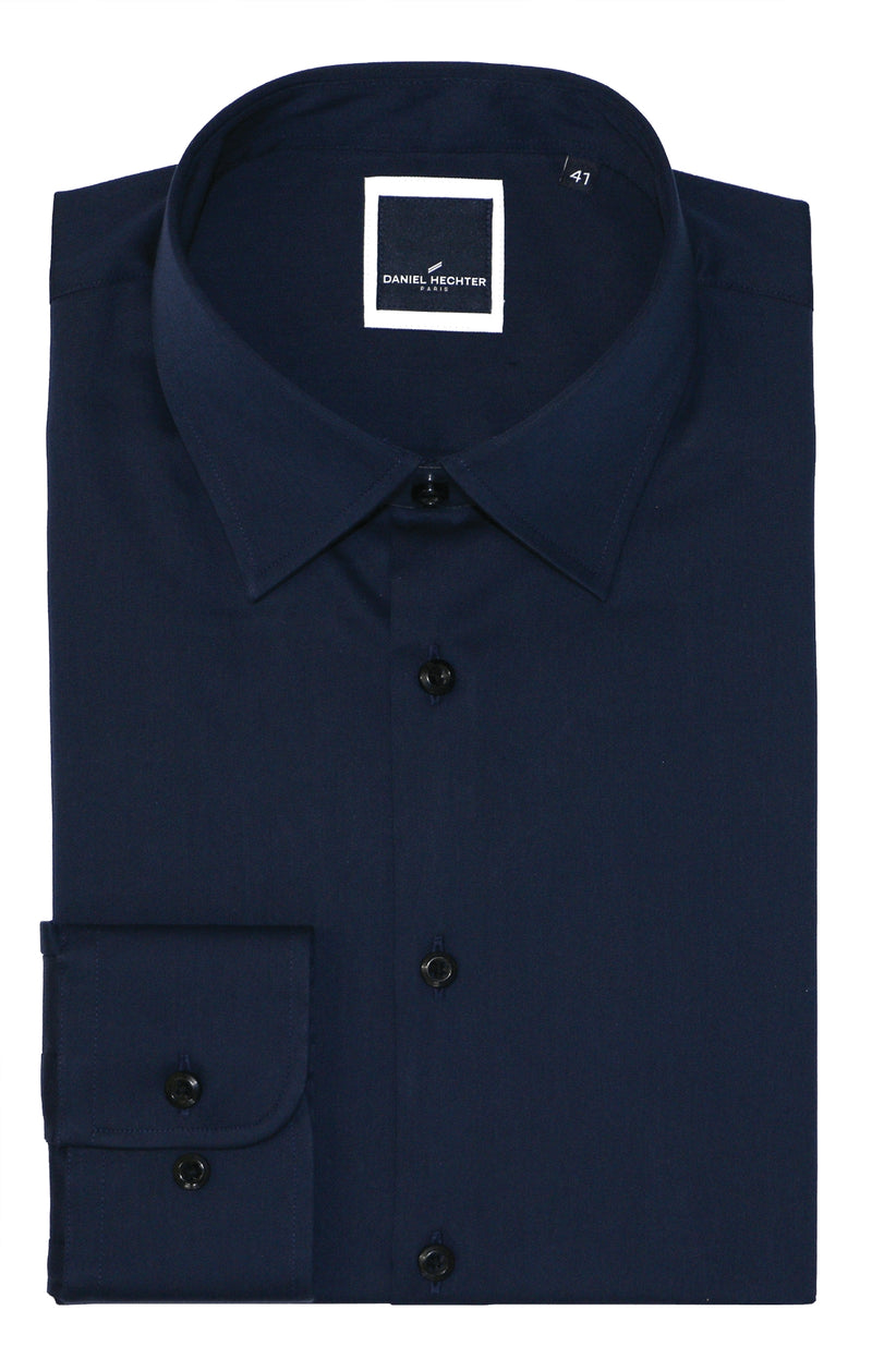 Franco Navy Business Shirt