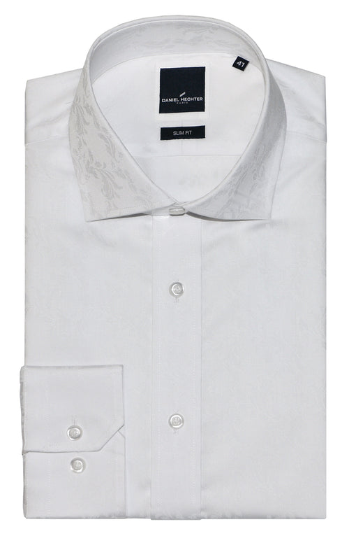 Daniel Hechter Jacque Business White Print Collar Shirt