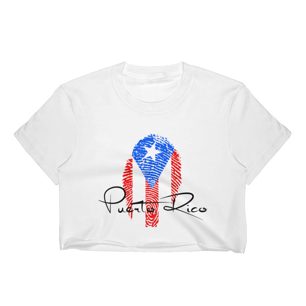 Puerto Rico Print Crop Top