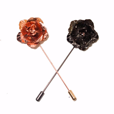 Metal Rose 2.0 Lapel Flower