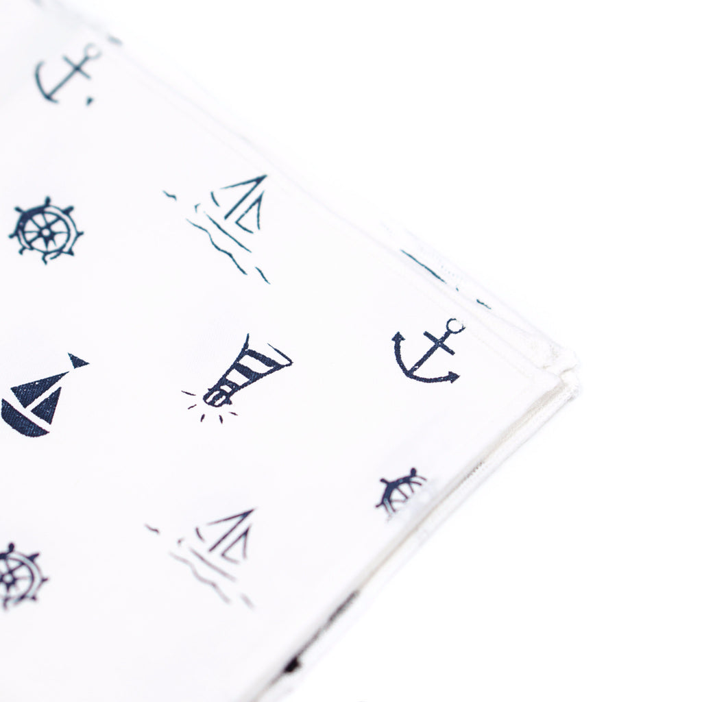 Anchor Nautical Pocket Square
