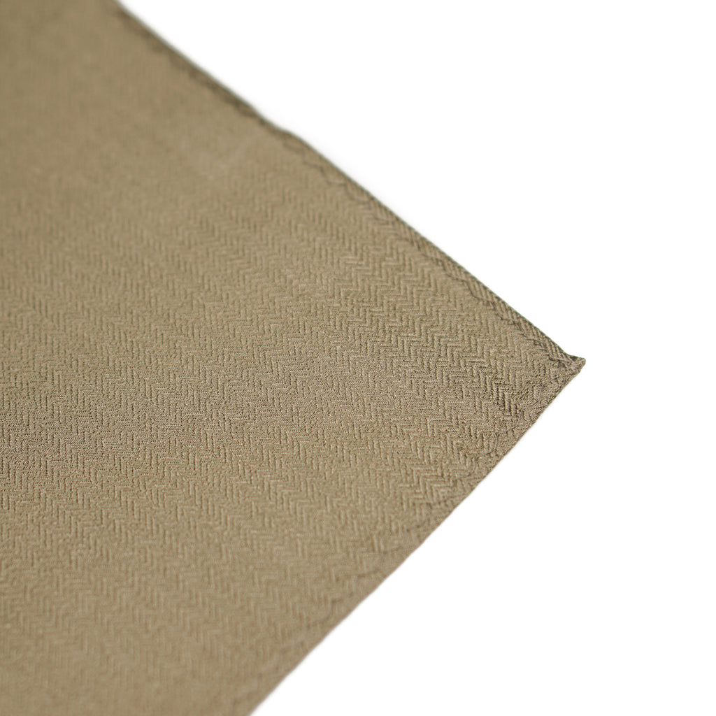 Brown Solid Pocket Square