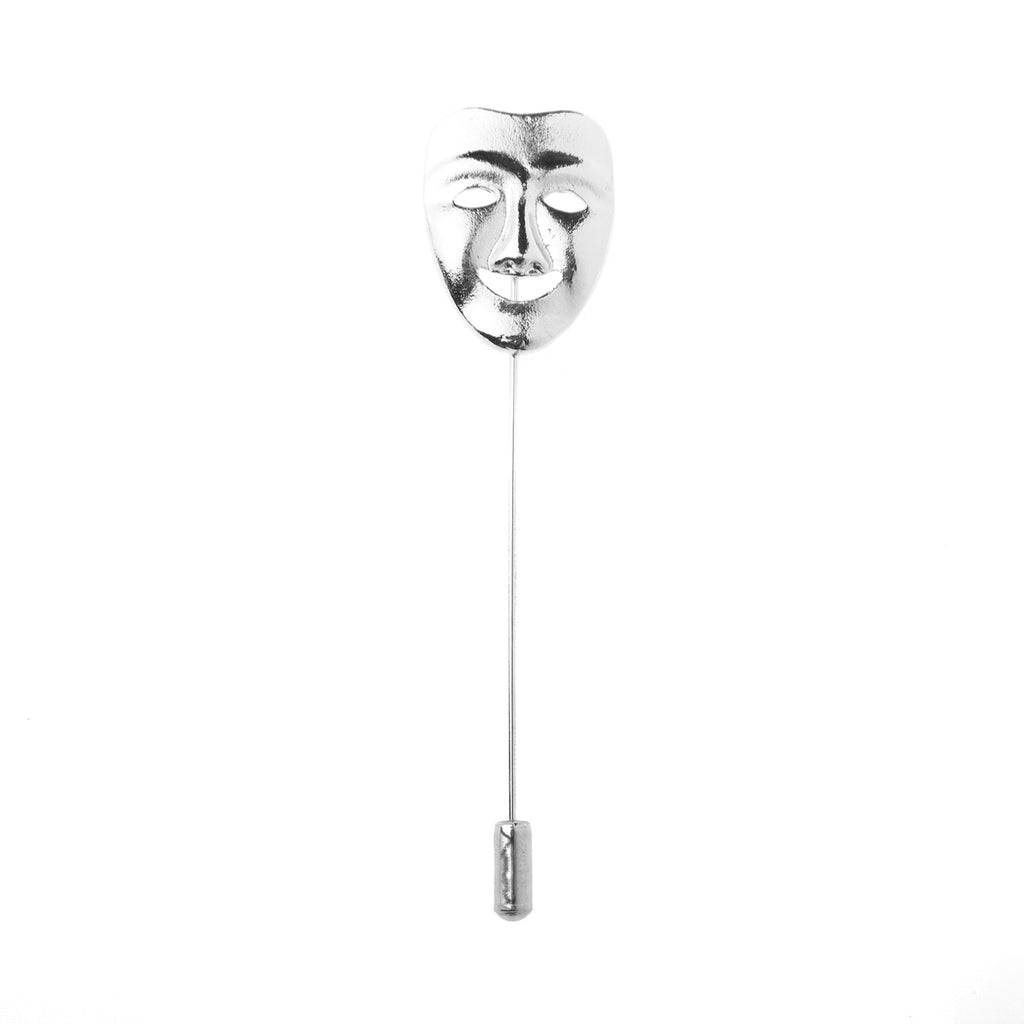Happy Masquerade Face Lapel