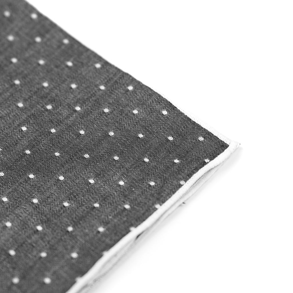 Dotted Pocket Square - Black