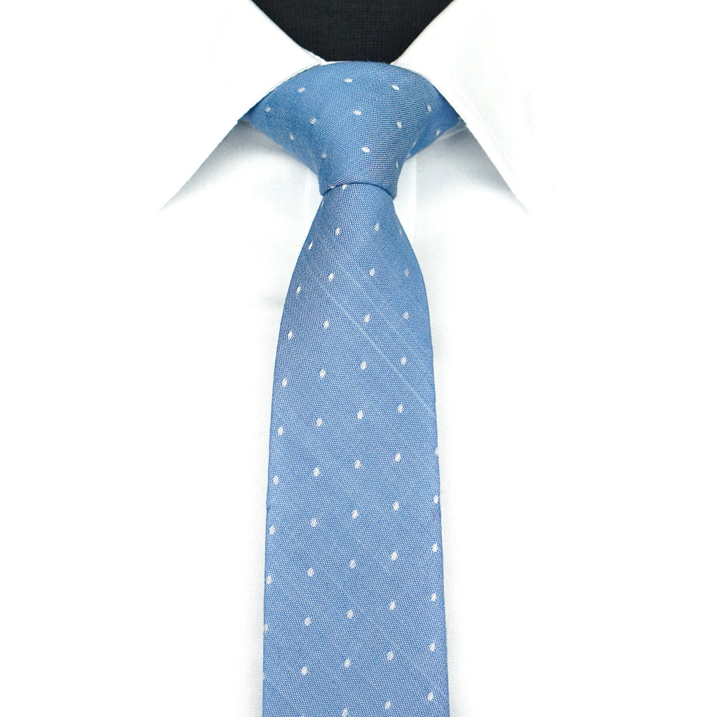 Blue Dotted Tie - Light
