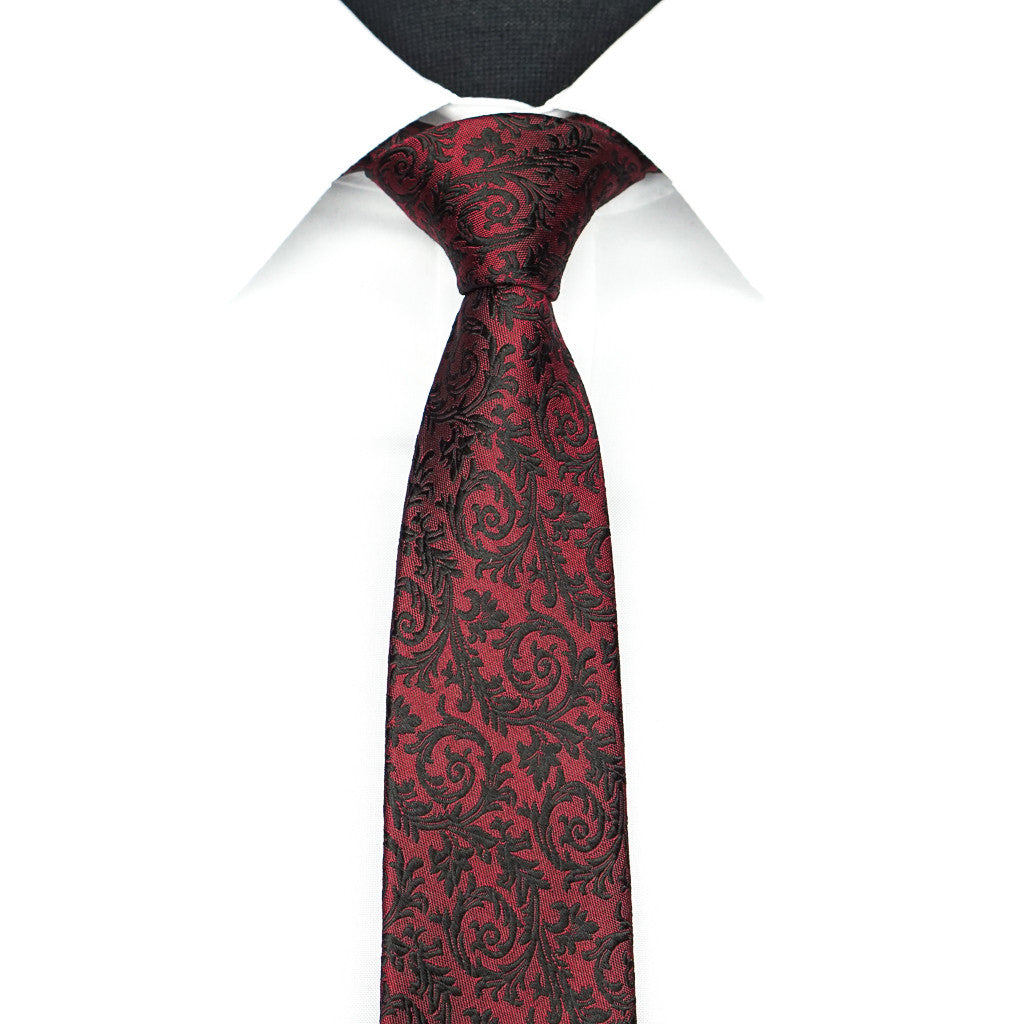 Red Midnight Vine Tie