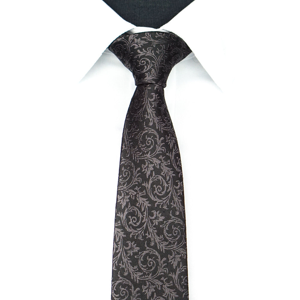 Black Midnight Vine Tie
