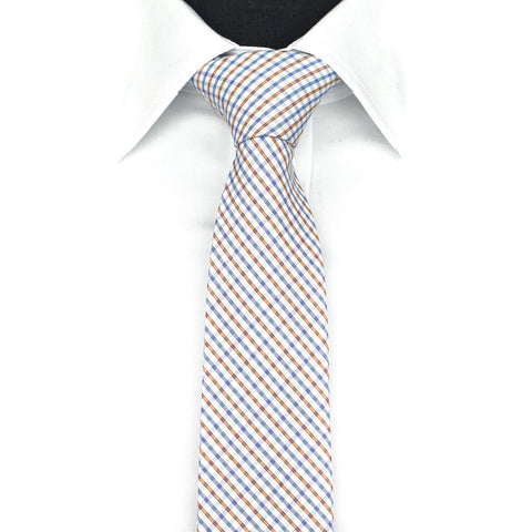 Orange/Blue Plaid Tie