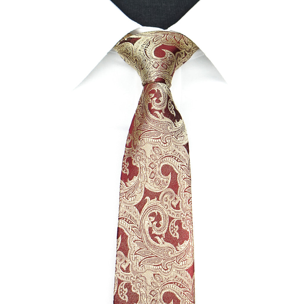 Red/Gold Paisley tie