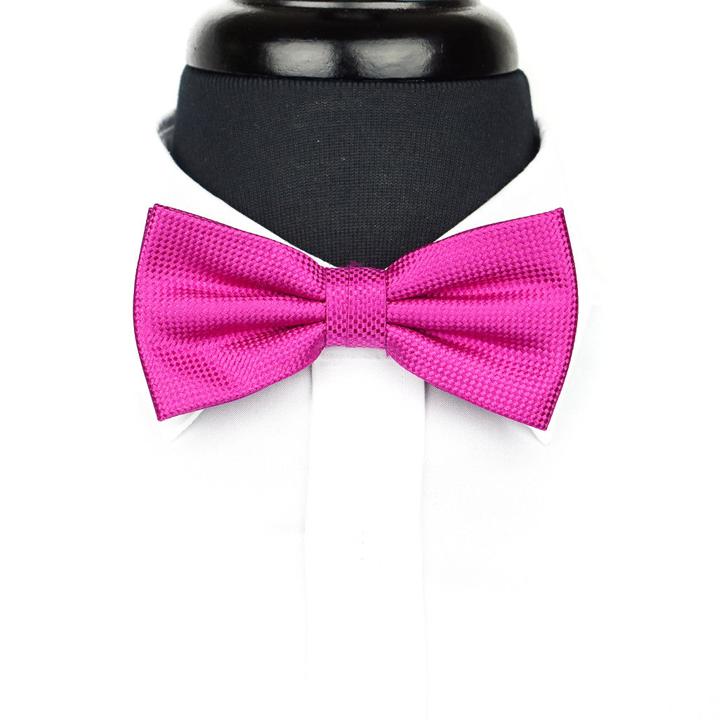 Pink Weave Bow Tie