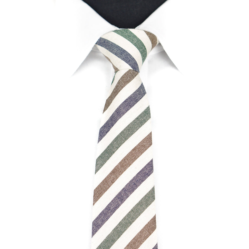 Green/Blue Striped Tie