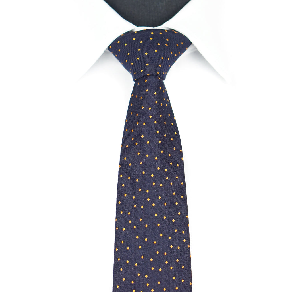 Orange Dotted Tie
