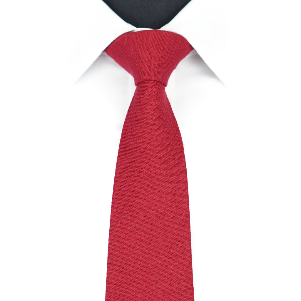 Red Solid Tie