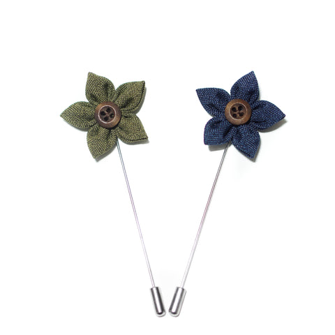 Button Lapel Flowers