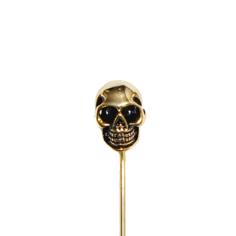 Gold Skull Lapel Pin