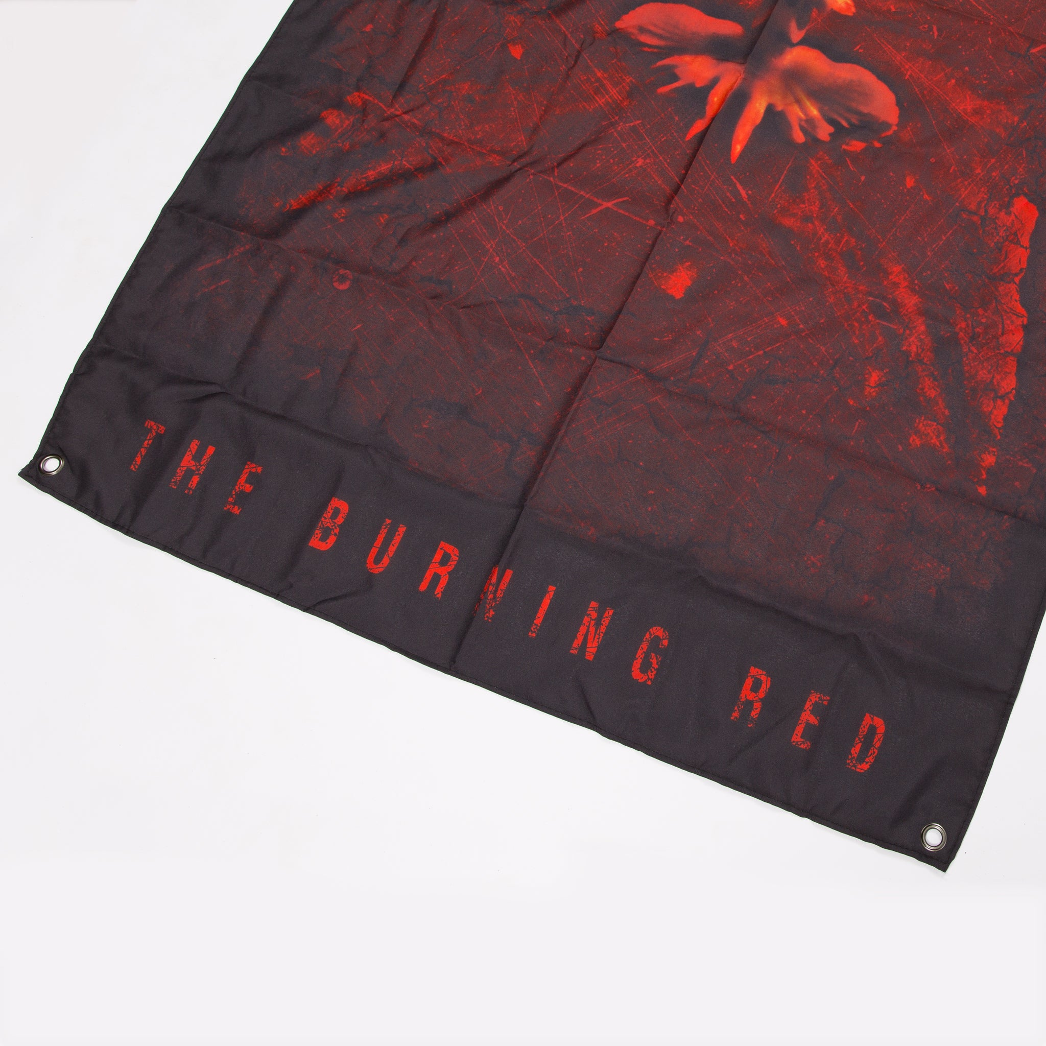 The Burning Red Wall Flag