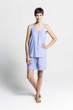 Chambray Top and Short Set - Lazy Days Loungewear - 3