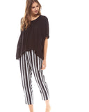 Milliner Crop Pyjama Pant - Lazy Days Loungewear - 6