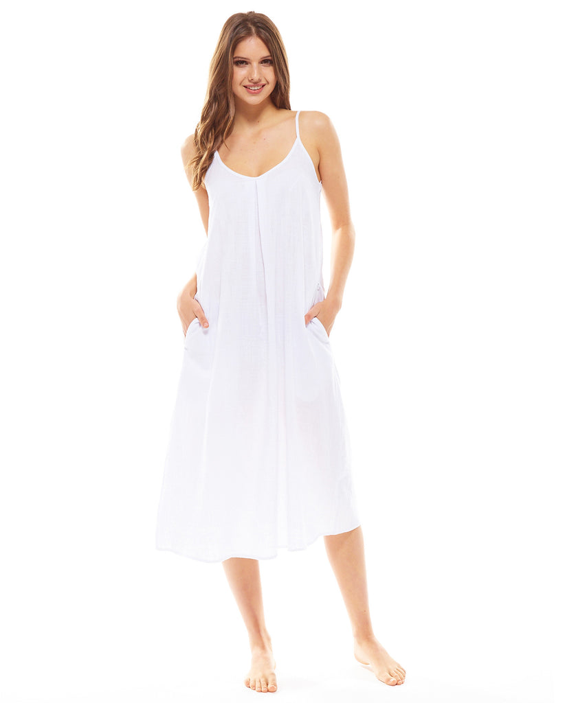 White Night Dress - Lazy Days Loungewear - 4
