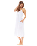 White Night Dress - Lazy Days Loungewear - 6